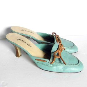 Leather St. John's Bay Turquoise color Shoes sz 7